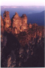 Three Sisters at Sunset, Katoomba, Blue Mountains
