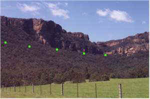 Railway route from below gorge, Wolgan Valley, Blue Mountains