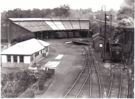 Valley Heights roundhouse ca 1950